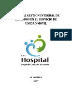 MANUAL DE GESTION DE RESIDUOS EN EL SERVICIO DE UNIDAD MOVIL