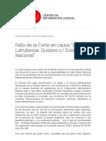 "Carranza Latrubesse, Gustavo c_ Estado Nacional"""