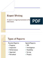 Report Writing I Sem