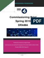 radio4 drama commissioning brief spring 2019