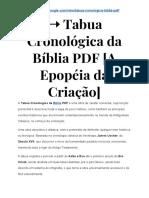 ➝ Tabua Cronológica da Bíblia PDF, Depoimentos | É FRAUDE, Será? VEJA a VERDADE!