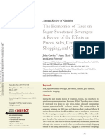 The Economics of Taxes on Sugar-Sweetened Beverages- A Review of the Effects on Prices, Sales, Cross-Border Shopping, And Consumption