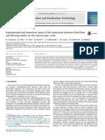 estudio experimental y numerico de la interaccion del flujo del fluido y el medio filtrante en una escala macroscopica