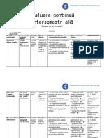 Evaluare intersemestriala