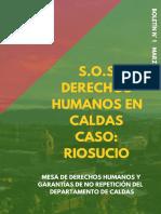 SOS Derechos humanos en Caldas