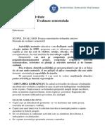 raport evaluare semestriala