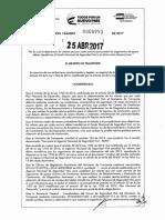 Resolución del Ministerio de Transporte número 0993 de 2017.