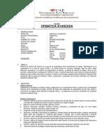 090109E16 (OFIMATICA AVANZADA) SILABUS  AQRQUITECTURA UAP