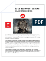 Game of Thrones - Indian Telecom Sector