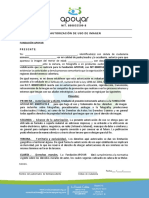 formato autorización y asistencia