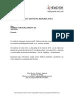 informe microbiologico ALICOPSA