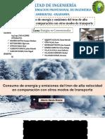 Grupo 3. Consumo de Energía y Emisiones Del Tren de Alta Velocidad en Comparación Con Otros Modos de Transporte