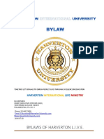 University Bylaws