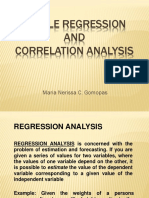 Simple Regression and Correlation Analysis