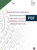 Manual del docente-participante Curso Innovación en la enseñanza contra el abandono escolar