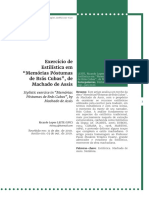 Exercício de Estilística em Memórias Póstumas de Brás Cubas