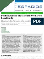 Artigo Pulbicado Espacios João Cesar