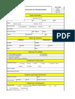 FA-CO-001   Registro de Proveedores