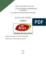 MANUAL DE VANZARI FARES
