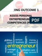 Personal Entreprenuerial Competencies