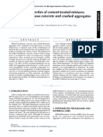 Mechanical properties of cement-treated mixtures