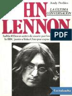 John Lennon la ultima conversacion - Andy Peebles