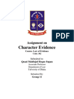 Character-Evidence under Evidence Act