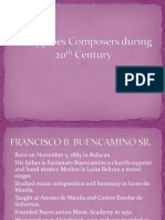 Philippines Composers during 20th Century