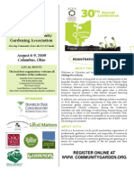 2009 Annual Conference Brochure - American Community Gardening Association