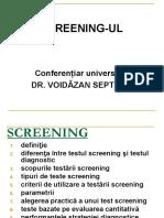 7. Screeningul