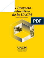 Proyecto educativo UACM