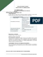 ESPECIFICACIONES TECNICAS  COMUNI