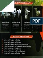LINEA DE PRODUCCION PARA CHOCOLATE Y CAFE