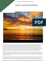 Antropocentrismul în contextul încălzirii globale - SetThings