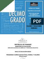 Etica Moral Valores y Relaciones Humanas 10-2014
