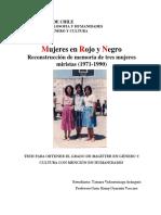 T- Mujeres en Rojo y Negro. Reconstrucción de memoria de tres mujeres miristas (1971-1990) (Tamara Vidaurrázaga)