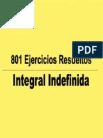 801 Ejercicios Resueltos de Integral Indefinida