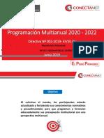 Programacion Multianual Presupuesto 2020-2022
