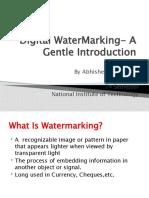 Digital Watermarking- A Gentle Introduction