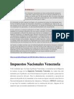 CULTURA TRIBUTARIA EN VENEZUELA