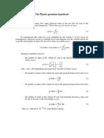 Planck quantum hypothesis
