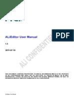 ALiEditor User Manual