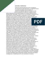 Organizaciones internacionales e instituciones