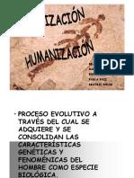 HOMINIZACION Y HUMANISMO