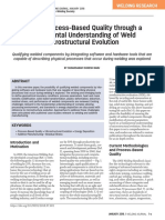 2018.001 Toward Process-Based Quality through a fundamental understading of weld microstructural evolution
