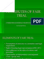 Attributes of Fair Trial