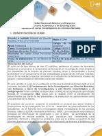 Syllabus del curso Investigación en Ciencias Sociales