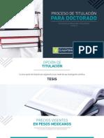 proceso de titulación para doctorado