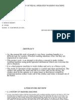 FABRICATION OF PEDAL OPERATED WASHING MACHINE 2