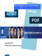 DawnNews Internship Report 2010